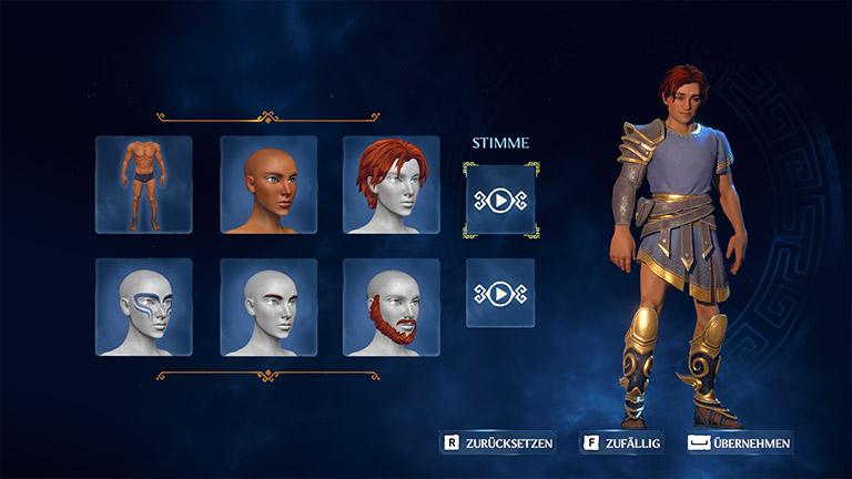 Immortals Fenyx Rising - Charaktererstellung