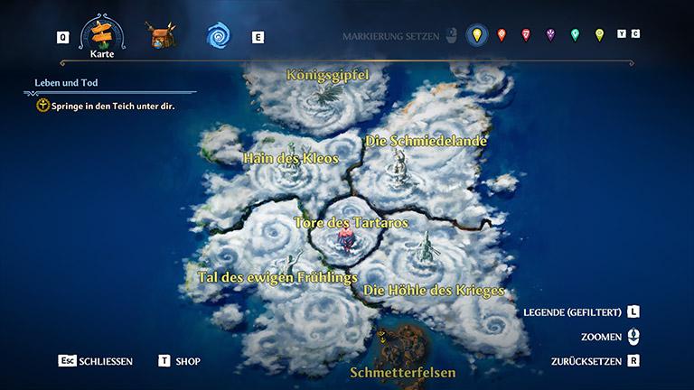 Immortals Fenyx Rising - Karte