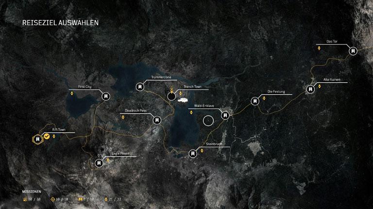 Outriders - Karte