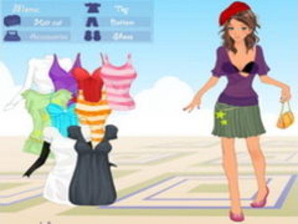 Bild zu Mädchen-Spiel Dressup in Paris
