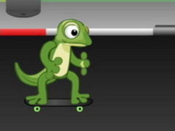 Bild zu Action-Spiel Gecko Skateboarding