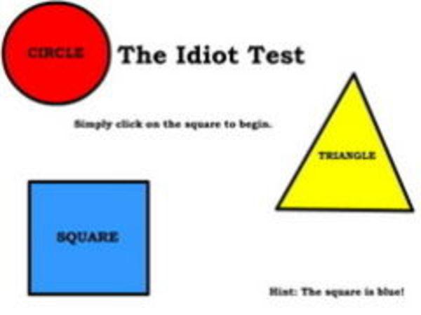 Bild zu Denken-Spiel Idiot Test