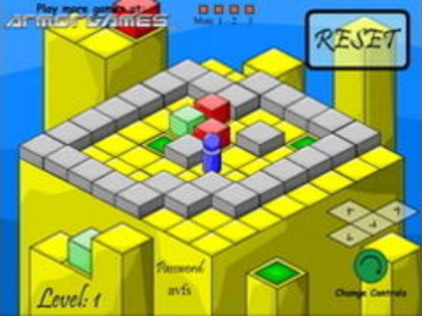Bild zu Denken-Spiel Isometric Sokoban