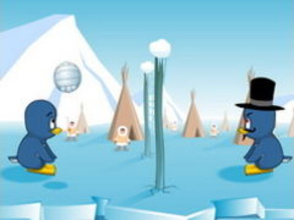 Bild zu Sport-Spiel Pinguin Volleyball