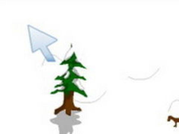 Bild zu Rennen-Spiel Schneeball 2