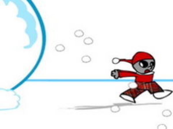Bild zu Rennen-Spiel Schneeball Verhängnis