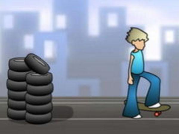 Bild zu Sport-Spiel Skateboy
