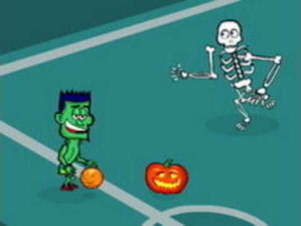 Bild zu Rennen-Spiel Spooky Hoops