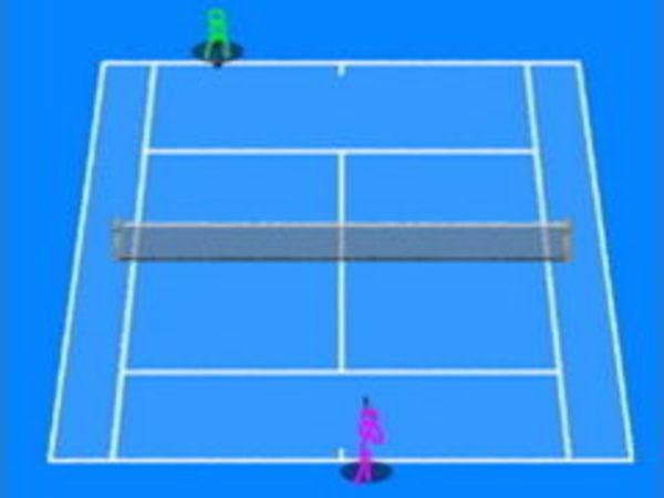 Bild zu Sport-Spiel Stickman Tennis