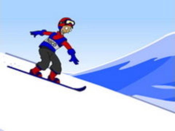 Schnee-Surfer