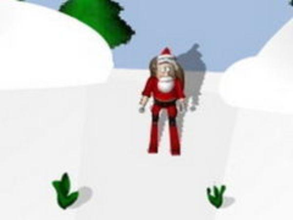 Bild zu Geschick-Spiel Weihnachtsmann Ski