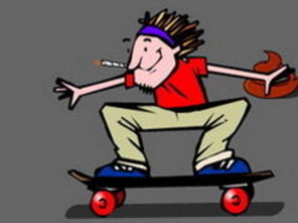 Bild zu Rennen-Spiel Shit Skater