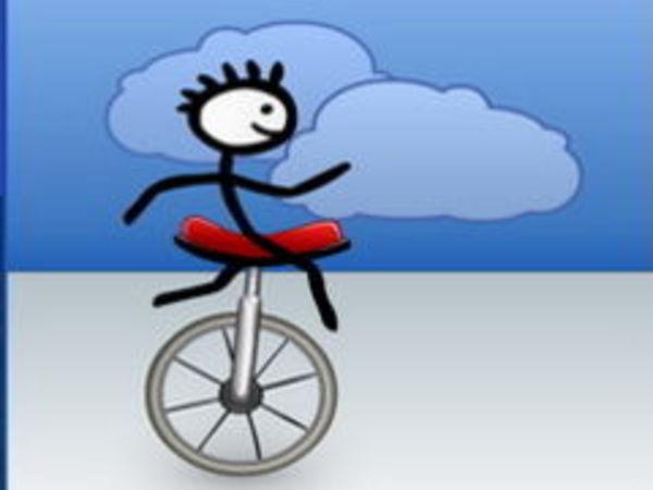 Bild zu Geschick-Spiel Einrad Challenge