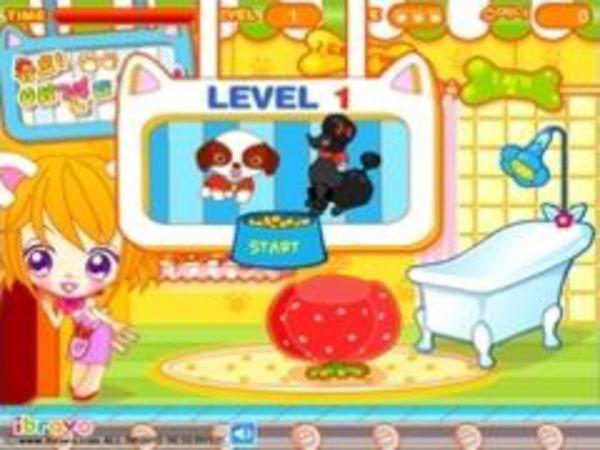 Bild zu Mädchen-Spiel Dogs Hairdresser