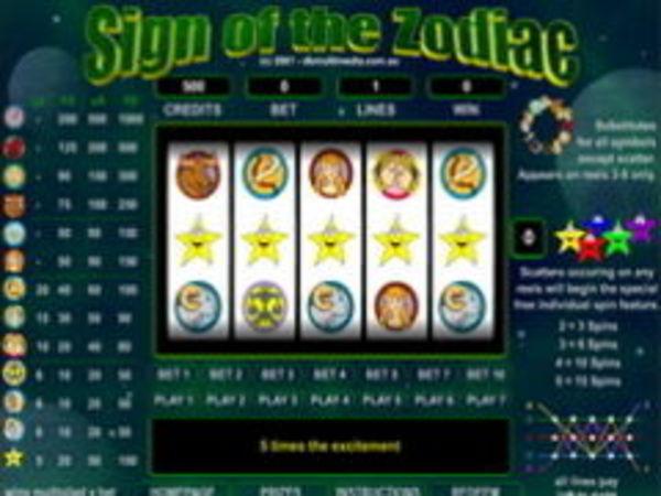 Bild zu Casino-Spiel Sign of the Zodiac