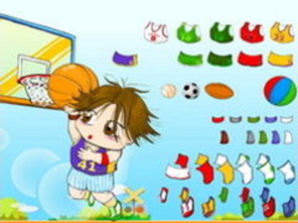 Bild zu Mädchen-Spiel Basketball Dressup