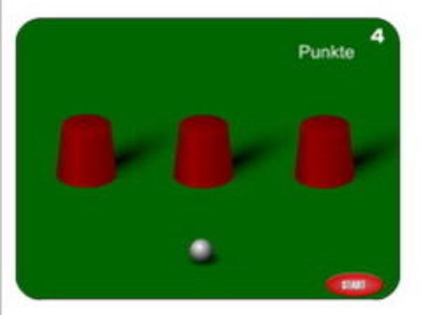 Bild zu Casino-Spiel Hütchenspiel 2