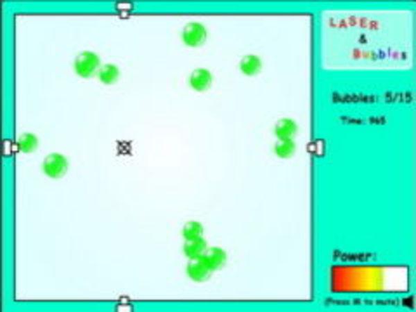 Bild zu Geschick-Spiel Laser and Bubbles