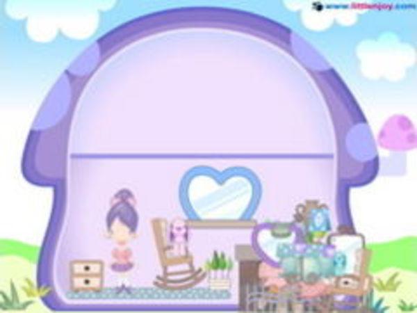Bild zu Mädchen-Spiel Mushroom Home