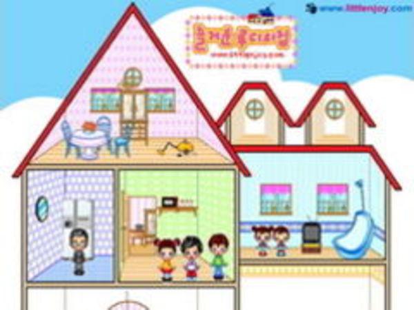 Bild zu Mädchen-Spiel Puppenhaus