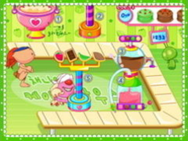 Bild zu Mädchen-Spiel Kuchen Fabrik