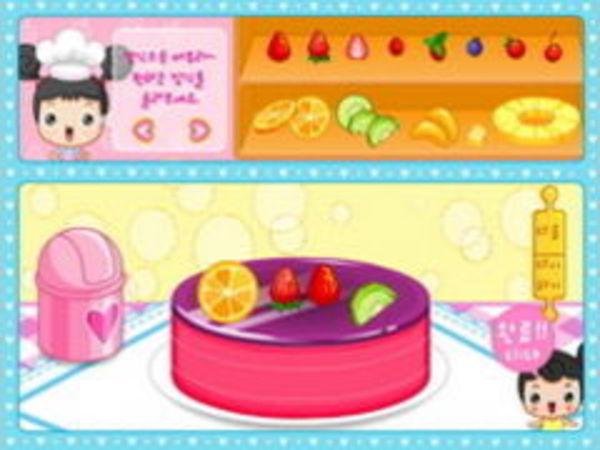 Bild zu Mädchen-Spiel Früchtekuchen