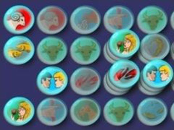 Bild zu Denken-Spiel Sternzeichen Mahjongg