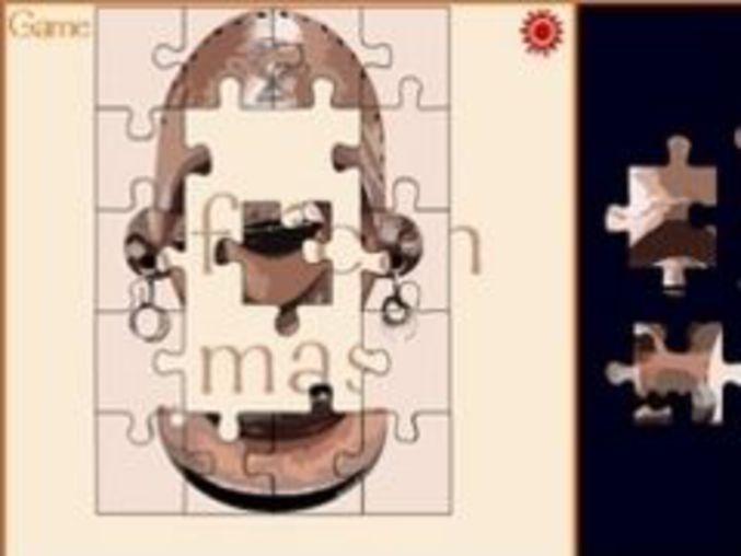 Afrikanische Maske Puzzle
