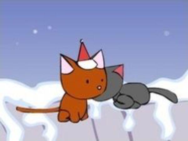 Bild zu Action-Spiel Christmas Cat