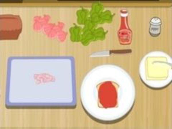 Bild zu Mädchen-Spiel Pizzabrot Bäcker