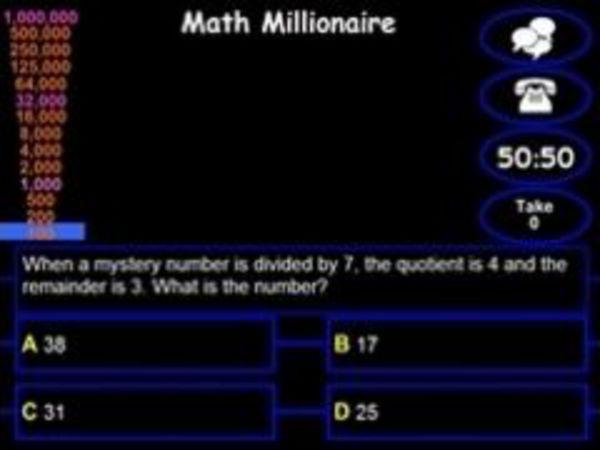 Bild zu Top-Spiel Math Millionaire