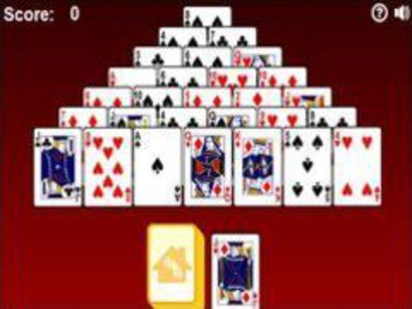 Bild zu Denken-Spiel Pyramid Solitaire