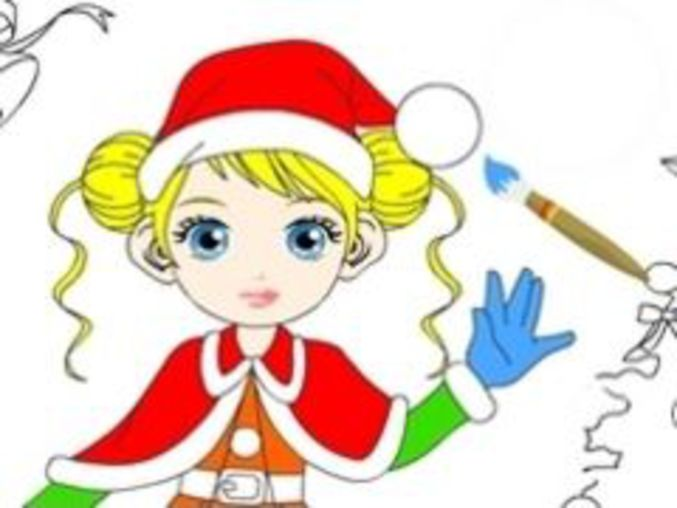 Christmas Girl Painting
