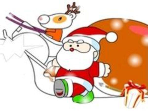 Bild zu Kinder-Spiel Santa Painting