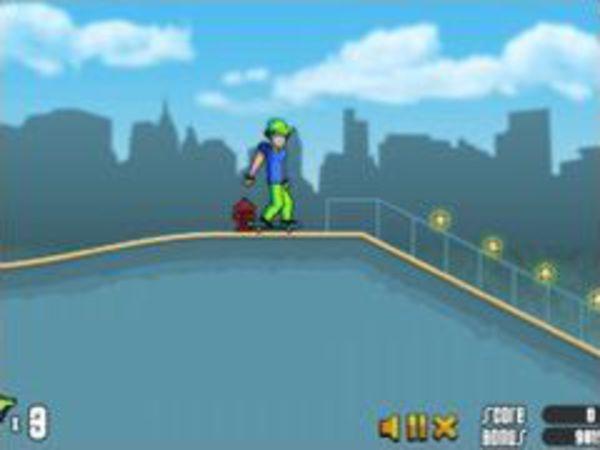 Bild zu Action-Spiel Skateboard Boy