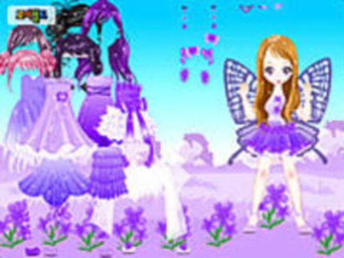 Purple Butterfly Dressup