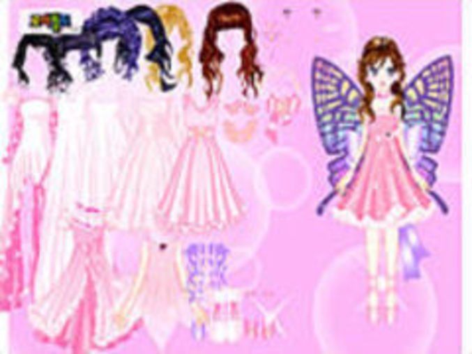 Pink Butterfly Dressup