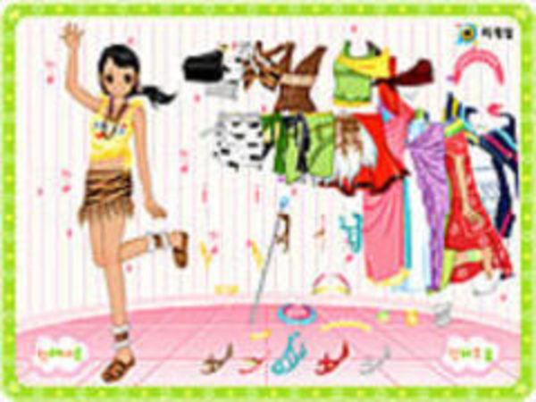 Bild zu Mädchen-Spiel African Dressup