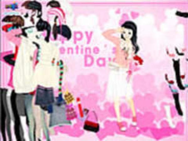 Bild zu Mädchen-Spiel Dressup Valentine