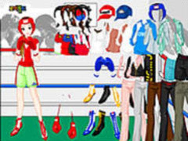 Bild zu Mädchen-Spiel Boxing Dressup
