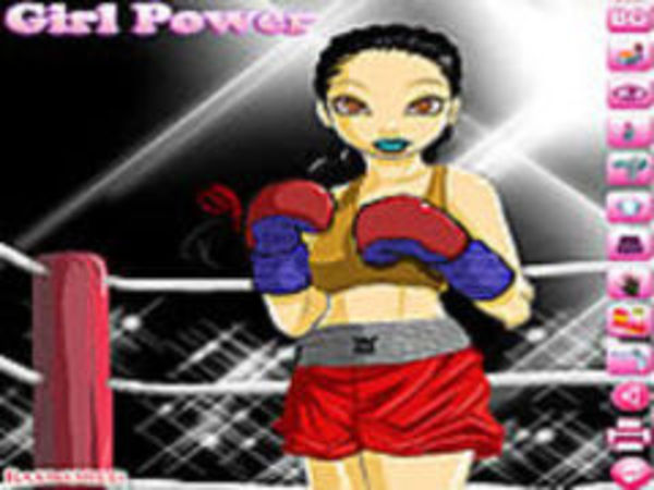 Bild zu Mädchen-Spiel Boxing Girl Dressup