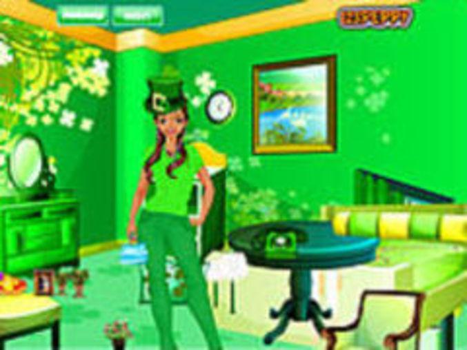 st patricks day room decor kostenlos online spielen auf m dchenspiele. Black Bedroom Furniture Sets. Home Design Ideas