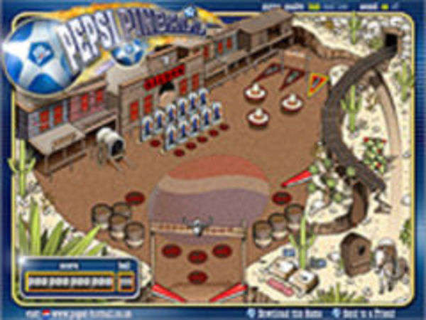 Bild zu Geschick-Spiel Western Pinball