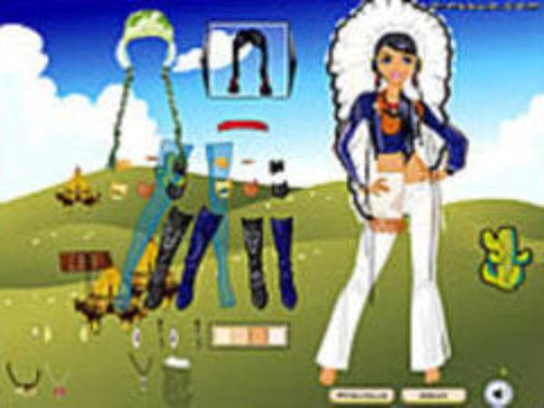 Bild zu Mädchen-Spiel Native American Clothes