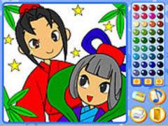 Manga Mania Coloring spielen