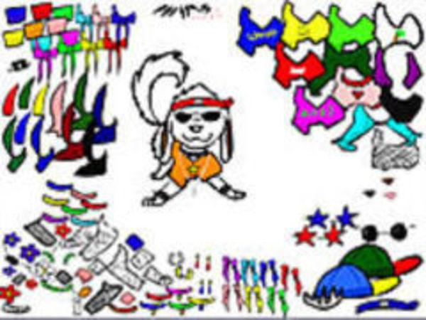 Bild zu Kinder-Spiel Akamaru DressUp