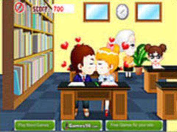 Bild zu Mädchen-Spiel Library Kiss