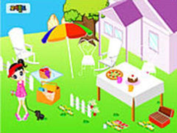 Bild zu Mädchen-Spiel Garden Decor