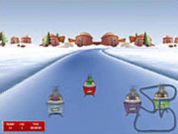 Bild zu Rennen-Spiel Christmas-Race