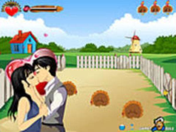 Bild zu Geschick-Spiel Farm Kissing
